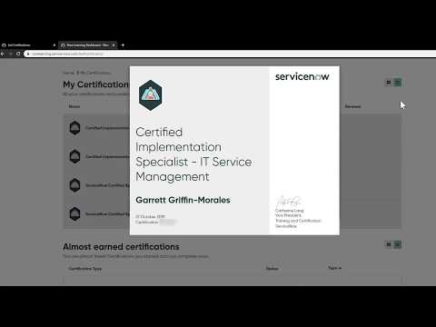 How to Find your ServiceNow Certification Information